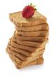 fette biscottate con fragola