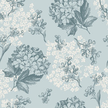 retro floral wallpaper - Fliesen nahtlos