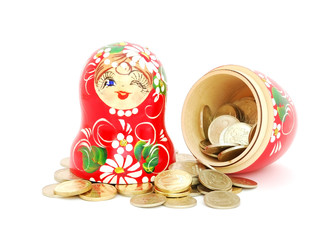 Matrioshka with coins