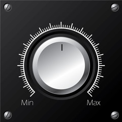 Volume knob with calibration