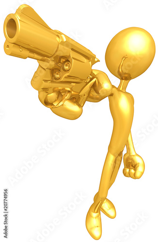 Gold Guy With Gold Gun
