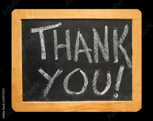 he Words Thank You on Blackboard