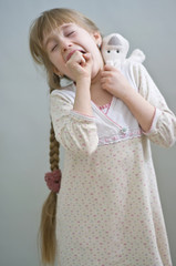 girl in a nightgown