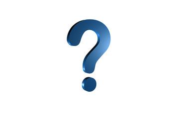 punto interrogativo blu
