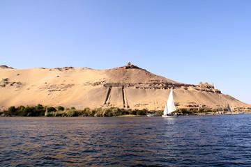 Aswan, Egipto paisaje