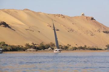 Nilo y Aswan, Egipto