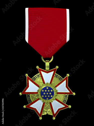 3d render legion of merit medal