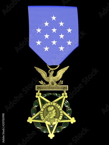 3d render Army medal of honor