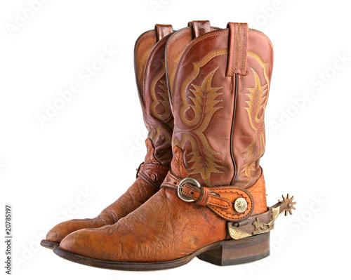 Cowboy Boots & Spurs - 20785197