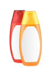 red and orange bottle isolated