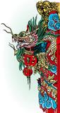 chinese temple dragon detail in Bangkok