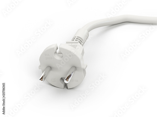 Electrical adapter white