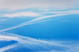 beautiful blue sky with  clouds in harmonic structure poster