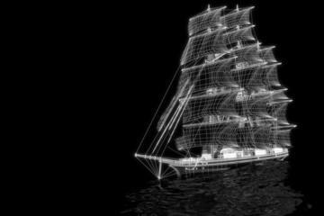 Sailing boat - 3d construction
