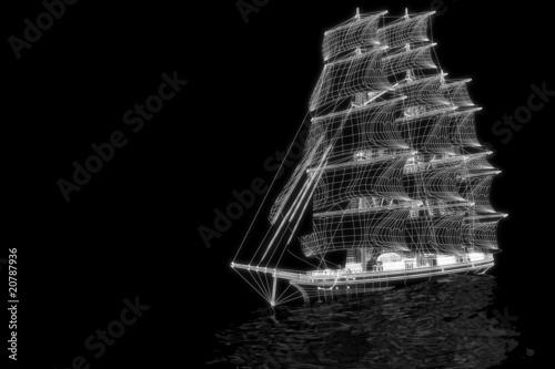 Sailing boat - 3d construction - 20787936