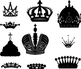 collection of ten crowns
