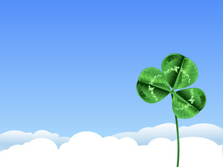 Green clover background for St. Patrick's Day