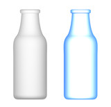 Milk Bottles : Transparent and opaque poster