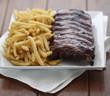 american ribs meal