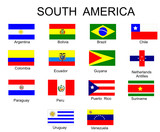 List of all flags of South America  countries poster