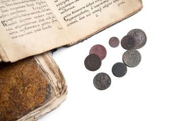 Old books and coins