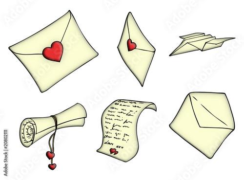 Liebesbrief, Brief, Liebe, Valentinstag, Botschaft, Nachricht