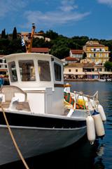 boat in Kerkira island bay