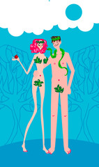 Adam & Eve woman and man