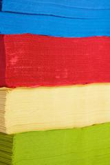 tovaglioli colorati di carta