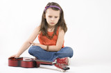 little girl with acoustic guitar.