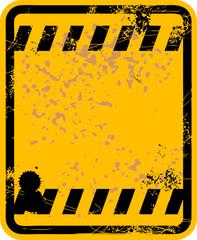 Blank grunge traffic sign, vector illustration