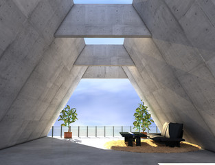 moderne Betonarchitektur