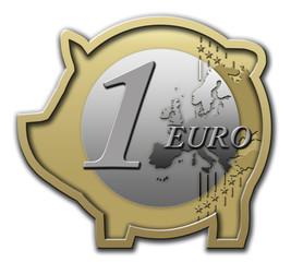 Sparschwein 1 Euro