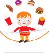 Niño con sobrepeso en peligro por su obesidad