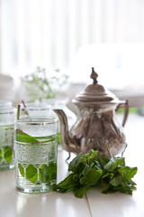 Cup of fresh mint tea