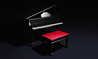 Piano in black - Chillout Lounge