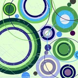 Grungy abstract background with circles