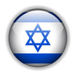 Israel flag button, vector