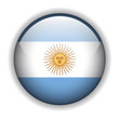 Argentina flag button, vector