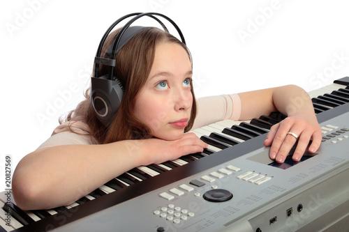 Staande foto Muziekwinkel musical synthesizer