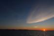 Sunset in Nunavut Canada. Arctic ocean.