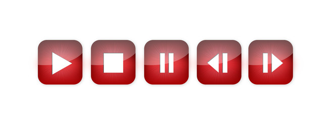 Shiney Red Audio Buttons