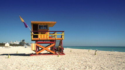 Life guard stand on South Beach, Miami
