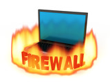 Laptop firewall poster