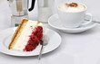 Torte mit Cappuccino