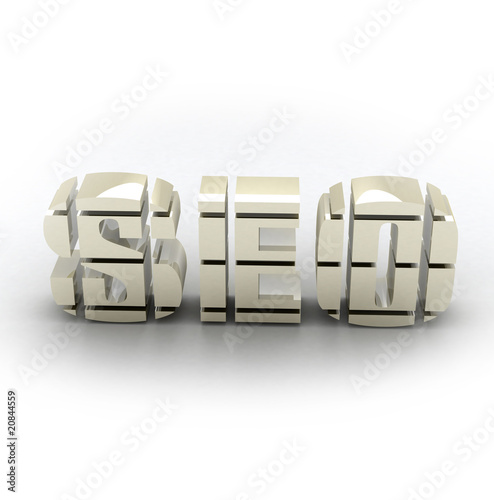 SEO 3D on white background