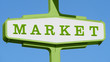 Classic fifties Market Sign - 20846922