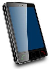 téléphone portable écran bleu