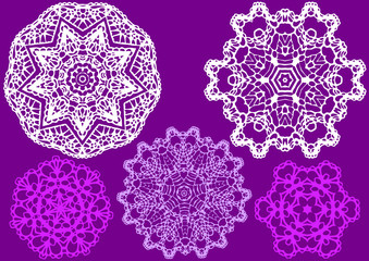lace doily, vector