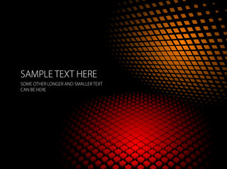 Abstract red and orange dynamic background